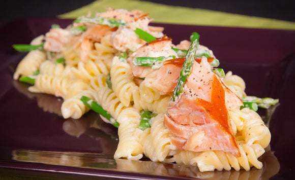 Honey Smoked Salmon Fusilli In Curried Cream