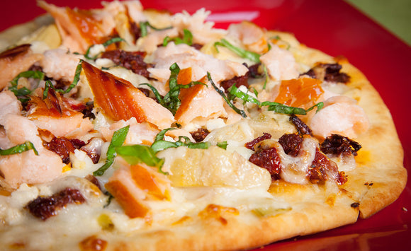 Honey Smoked Salmon Pizza