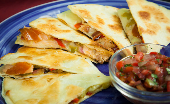 Honey Smoked Salmon Quesadillas