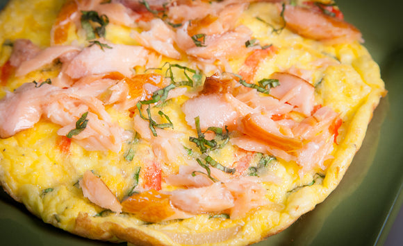 Honey Smoked Salmon & Sweet Pepper Frittata