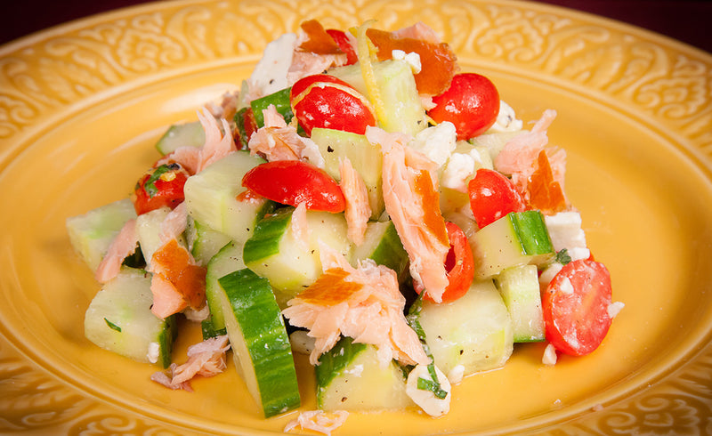 Honey Smoked Salmon® Tomato-Cucumber Salad