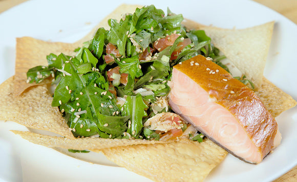 Honey Smoked Salmon Lomi Lomi Salad