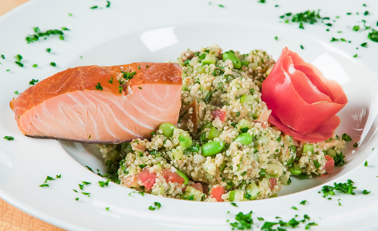 Honey Smoked Salmon Quinoa Salad Recipe Honey Smoked Fish Co