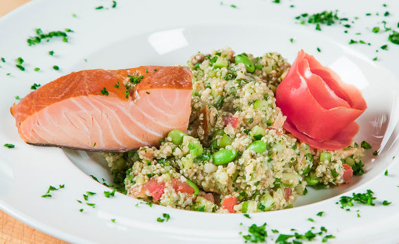 Honey Smoked Salmon Quinoa Salad