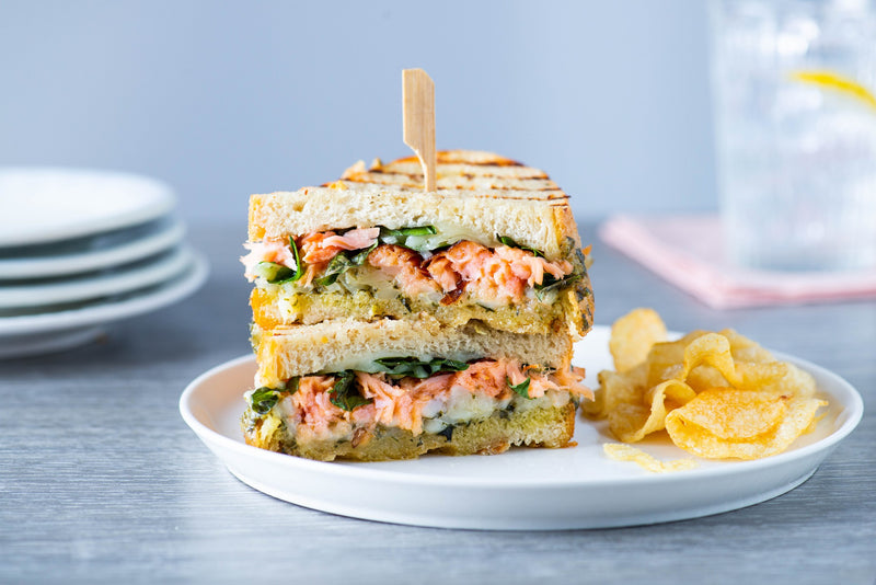 Honey Smoked Salmon® Garlic and Herb Three Cheese Panini