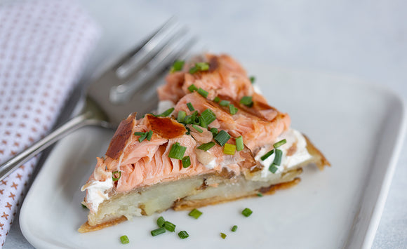 Potato Galette with Honey Smoked Salmon Appetizer