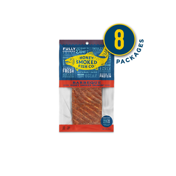 Barbeque Salmon — Eight Packages of 8oz Fillets