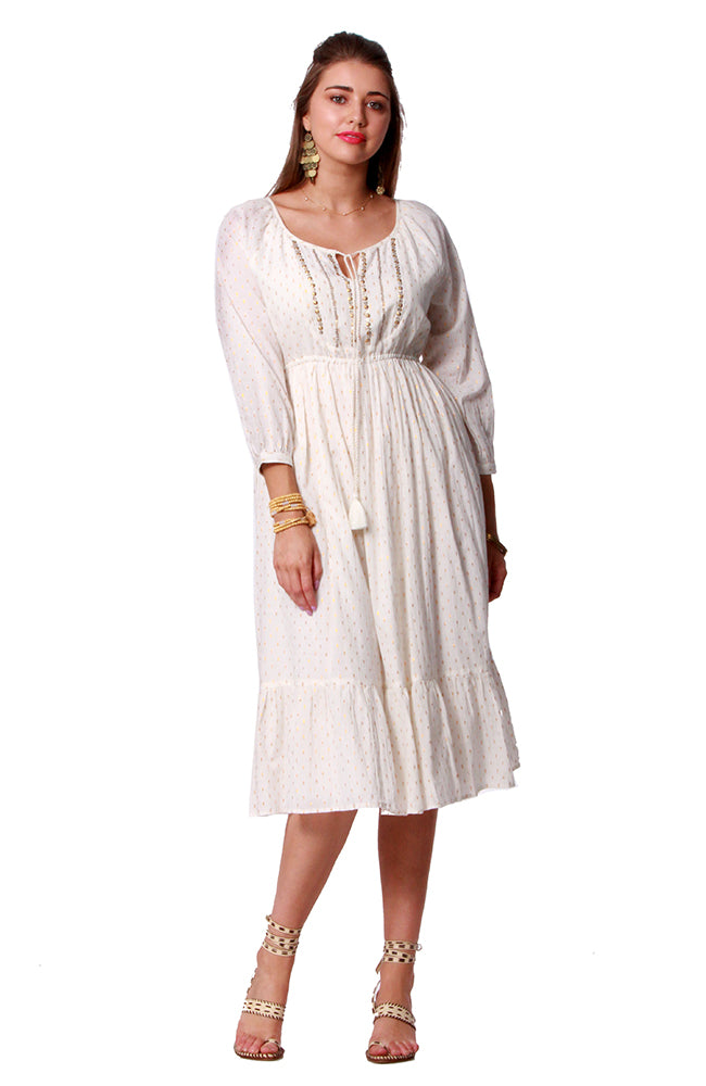 Cotton Lurex Dress