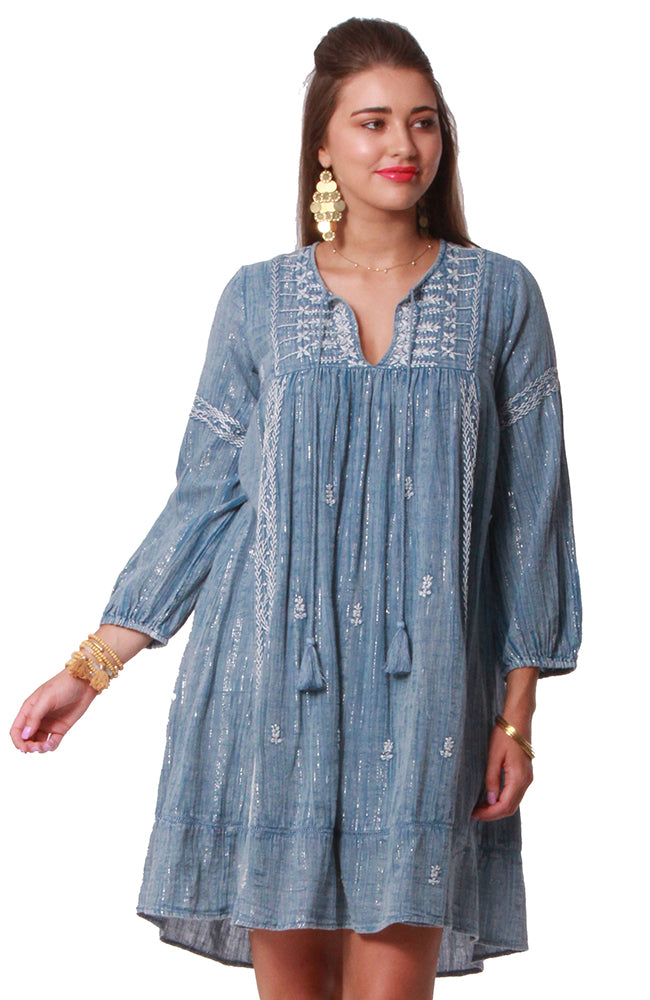 Khadi Tunic Cotton Lurex