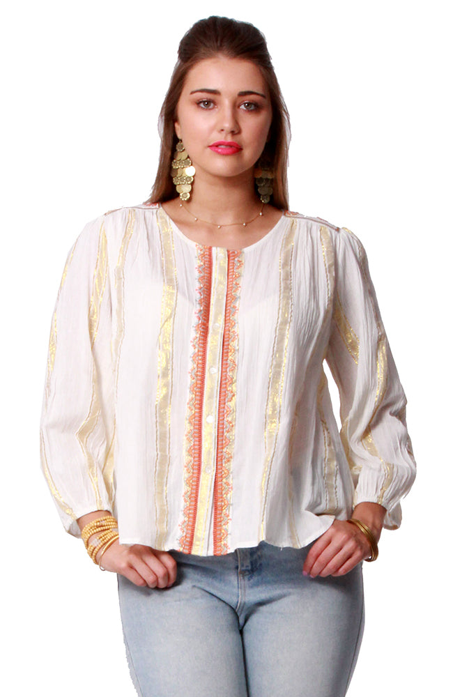 Cotton Lurex Blouse