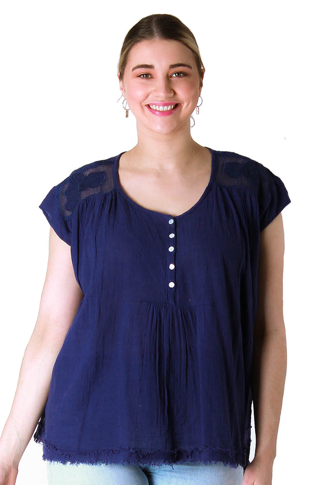 Abbey Top Twilight Navy