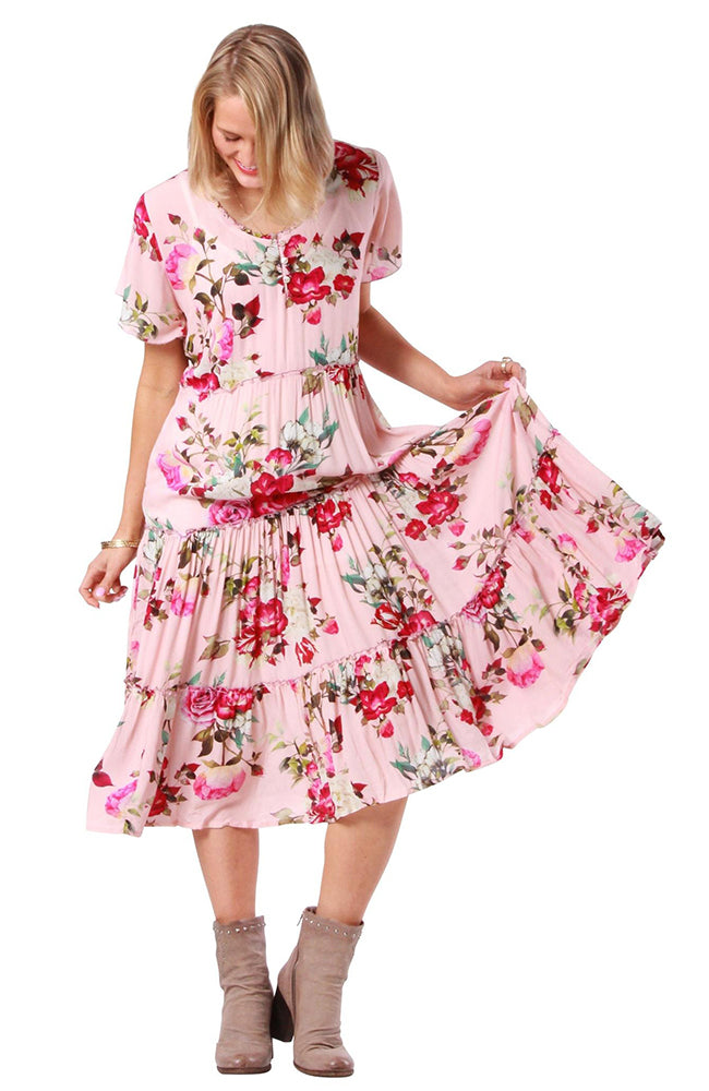 Annie Dress Devon Pink