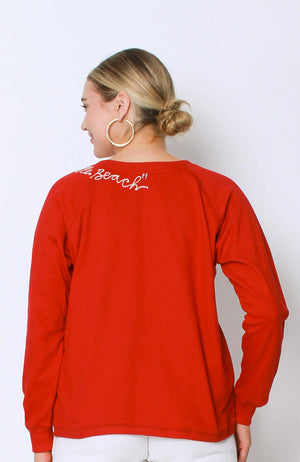 Embroidered Sweat Chilli