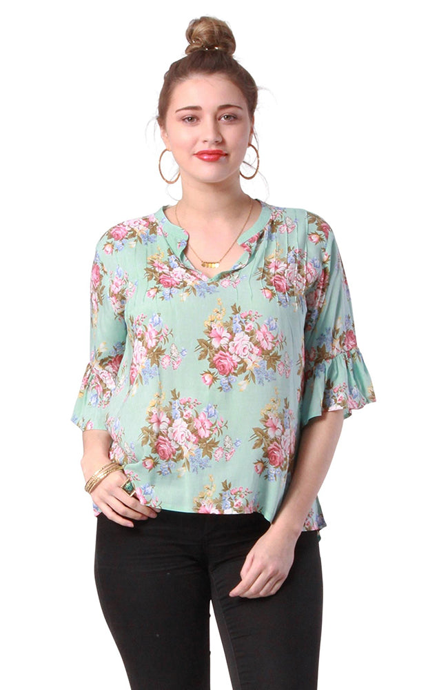 Clara Top Coventry Blue
