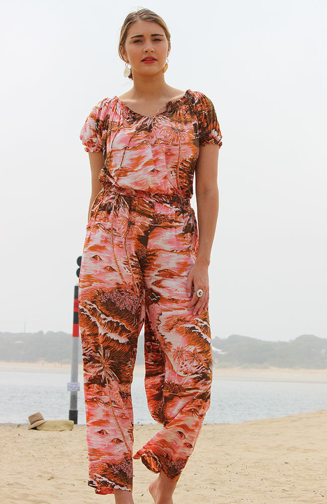 Escape Jumpsuit Islands Pink