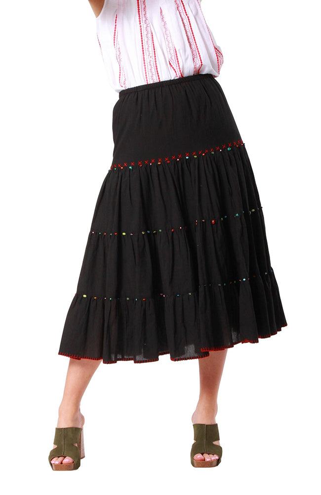 Gem Skirt Black