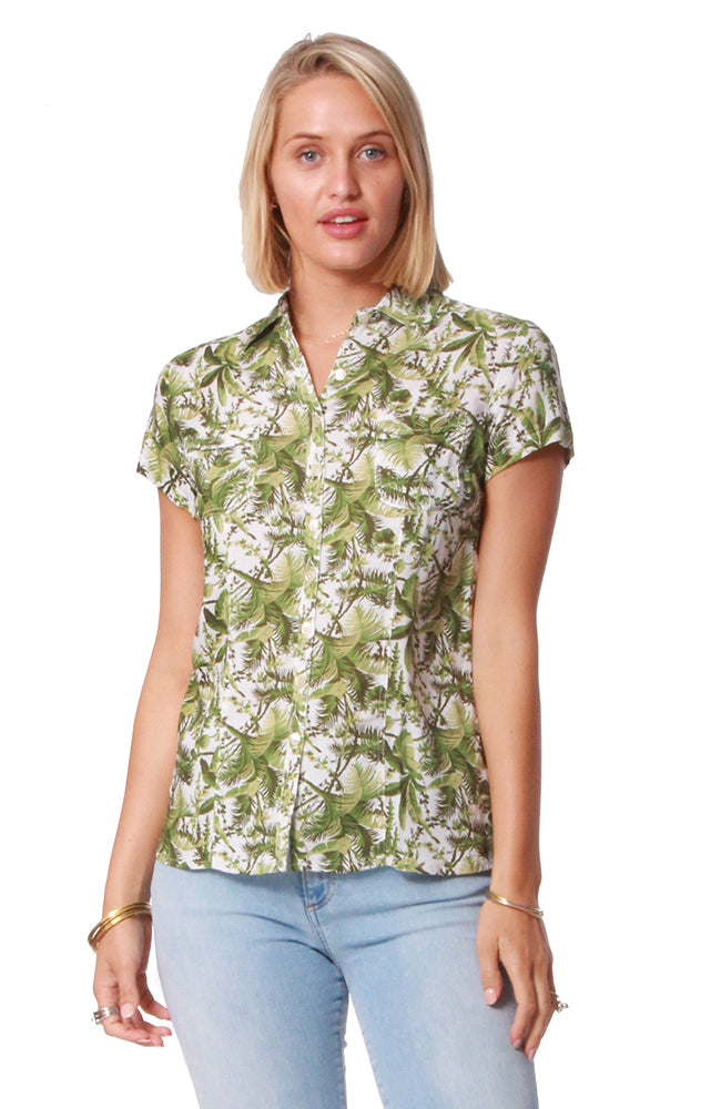 Cowgirl Shirt Canopy Green