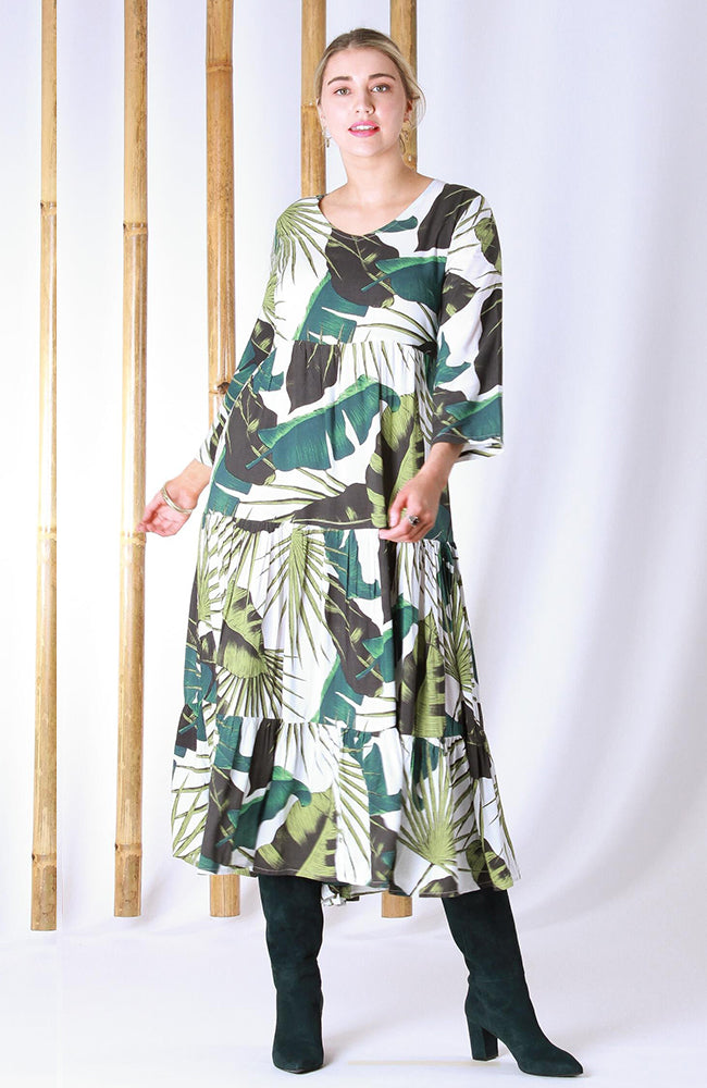 Sally V Dress Paradise Green