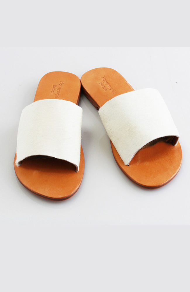 Slide Cow Hide - Natural