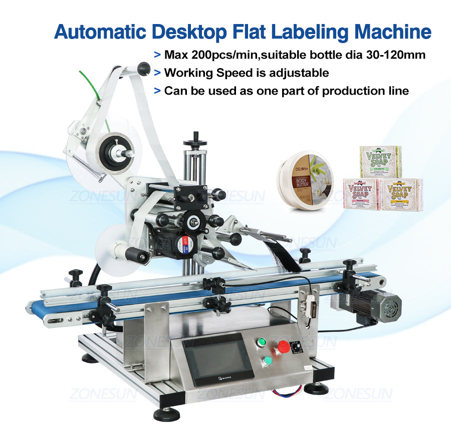 ZS-TB150P Automatic Top Side Flat Surface Labeling Machine