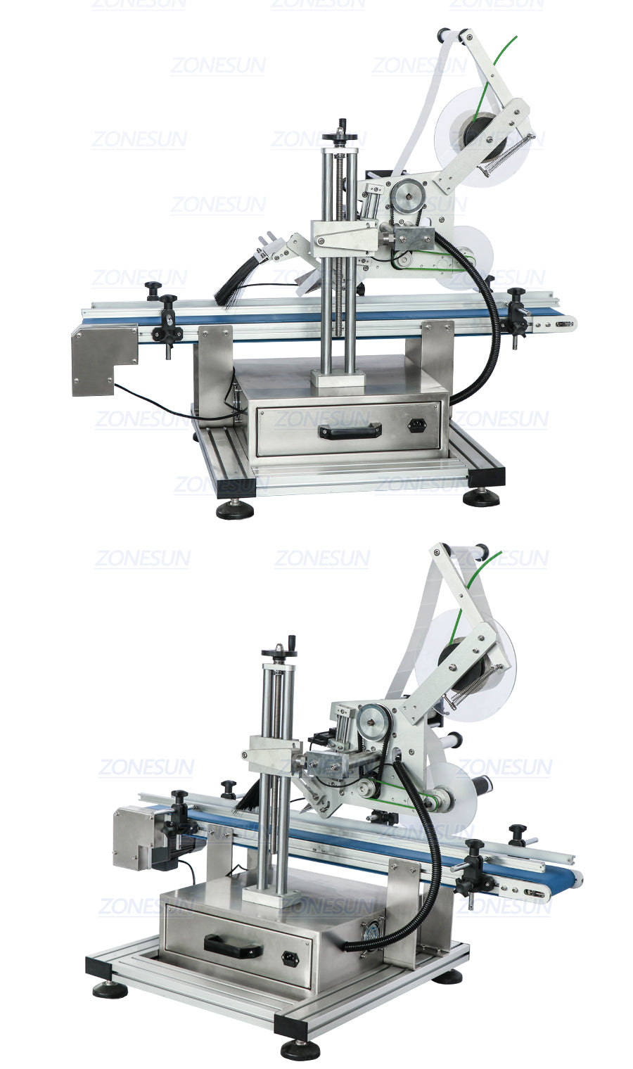 Real Shot of ZS-TB150P Automatic Top Side Flat Surface Labeling Machine