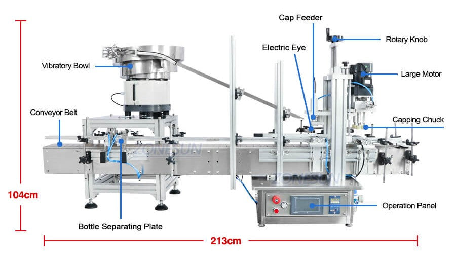 Capping Machine Size