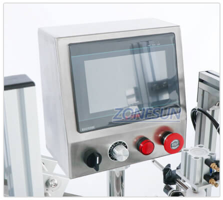 Operation Panel of Automatic Capping Machine With Cap Feeder