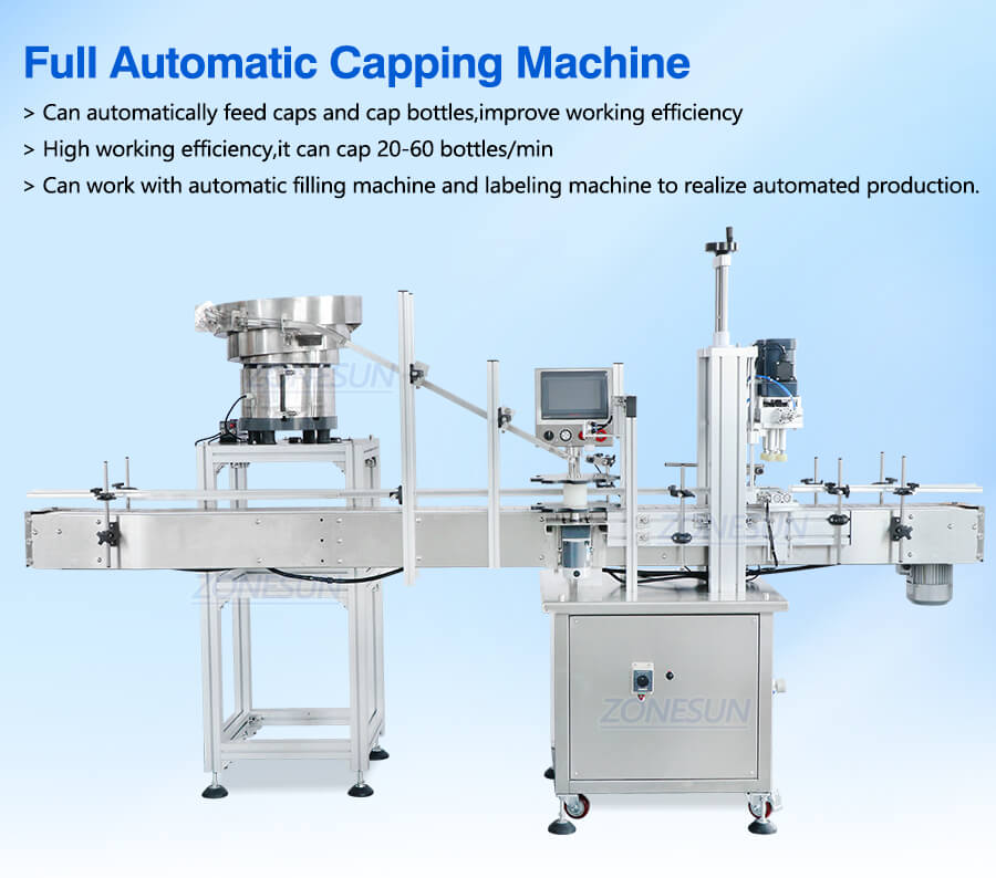 Automatic Capping Machine With Cap Feeder