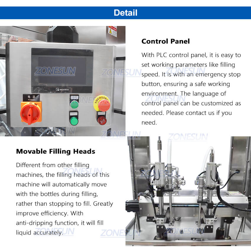Details of Automatic Bottle Tracking Filling Machine