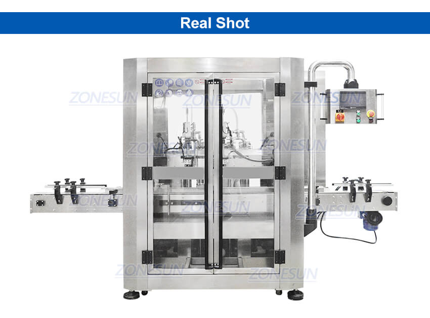 Real Shot of Automatic Bottle Tracking Filling Machine