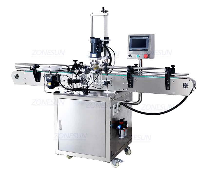 Real Shot of Automatic Twist Off Capping Machine