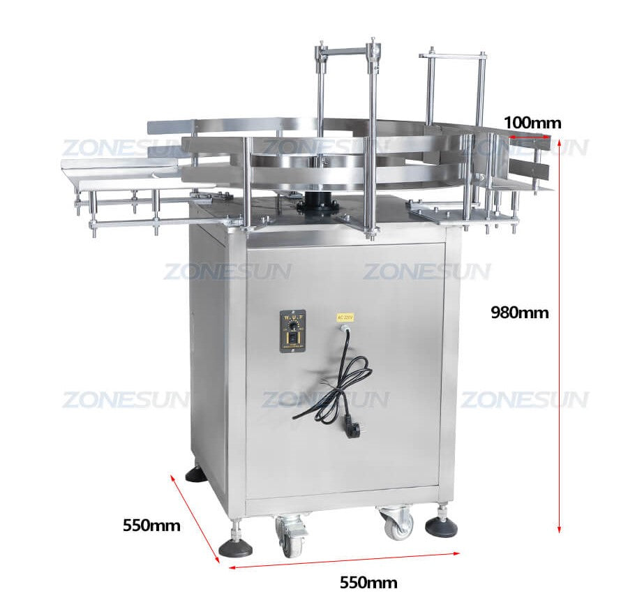 Dimension of Bottle Turntable Machine