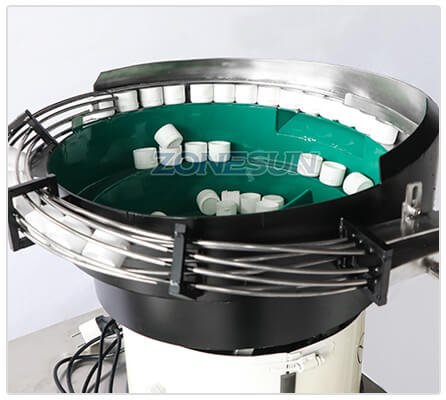 Vibratory Bowl Sorter of Desktop Capping Machine With Cap Feeder