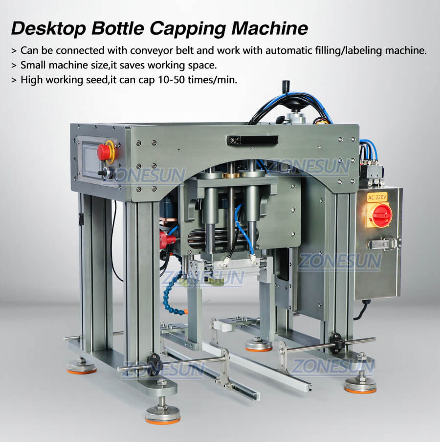 Semi-automatic Capping Machine for Conveyor Belt