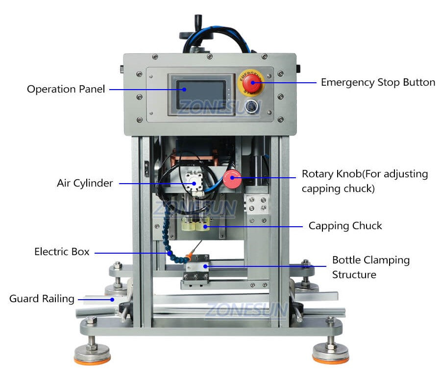 Dimension of Semi-automatic Capping Machine for Conveyor Belt