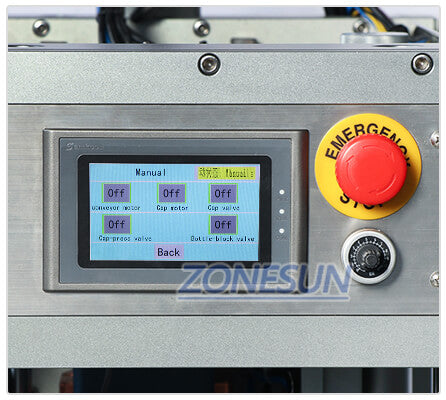 Operation Panel of Semi-automatic Capping Machine for Conveyor Belt
