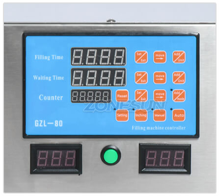 Operation Panel of Double Head Peristaltic Pump Filling Machine