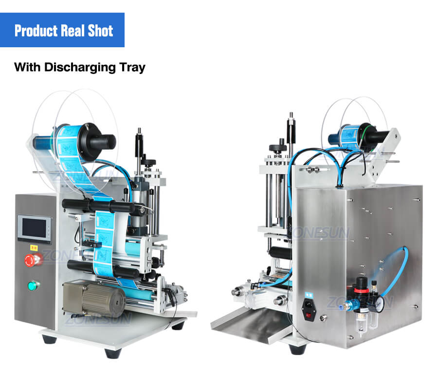 Real Shot of ZS-TB100S Small Bottle Labeling Machine