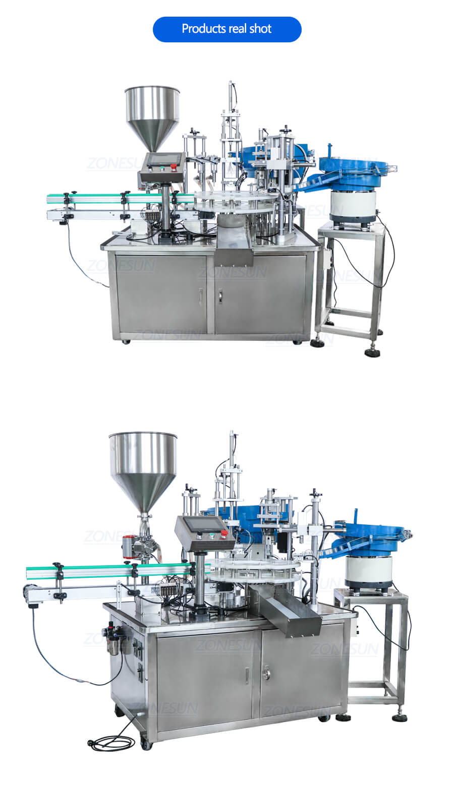 ZS-AFC2 Monoblock Filling Capping Machine
