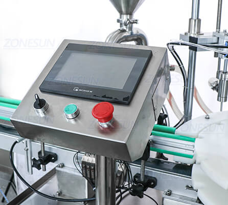 Operation Panel of ZS-AFC2 Monoblock Filling Capping Machine