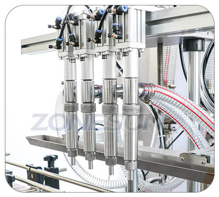 Filling Nozzle of Paste Piston Pump Filling Machine With Mixer Heater