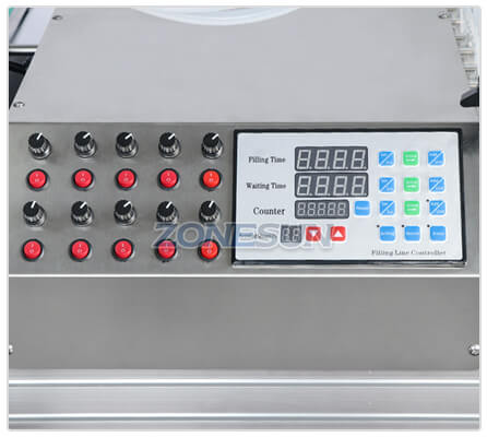 Operation Panel of Desktop Liquid Filling Machine With Diving Nozzle