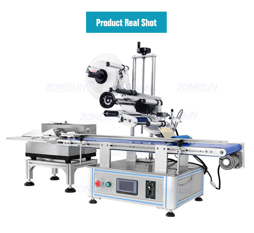 Real Shot of ZS-TB180PBF Automatic Pouch Bag Paging And Labeling Machine