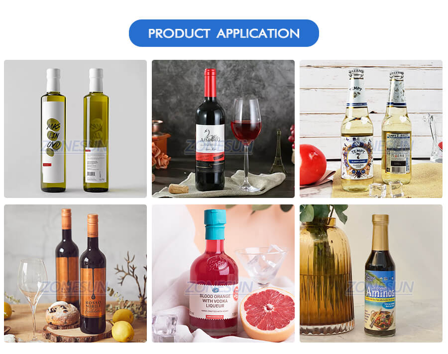 Application of ZS-TB100SW Bottle Labeling Machine