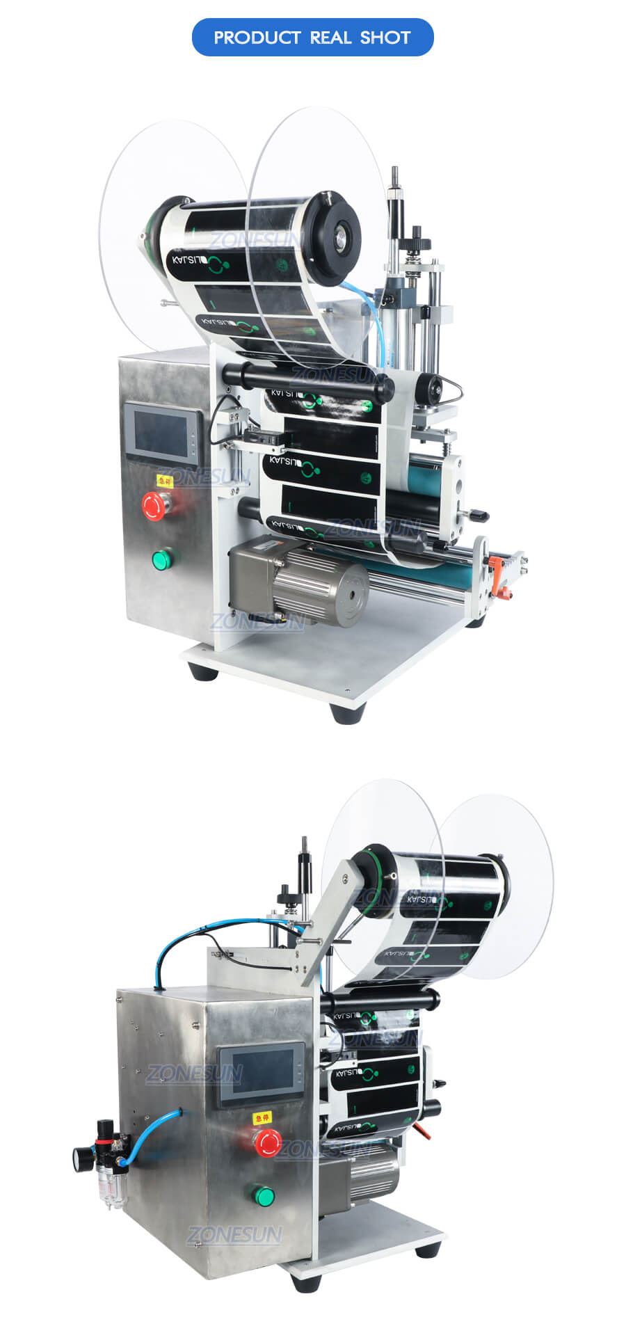 Real Shot of ZS-TB100SW Bottle Labeling Machine