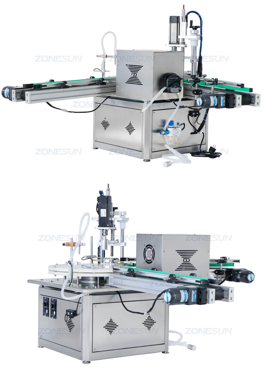 Small Bottle Filling Capping Machine With Conveyor