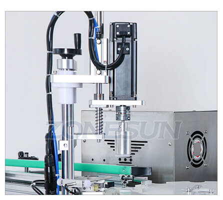 Capping Head of Small Bottle Filling Capping Machine With Conveyor
