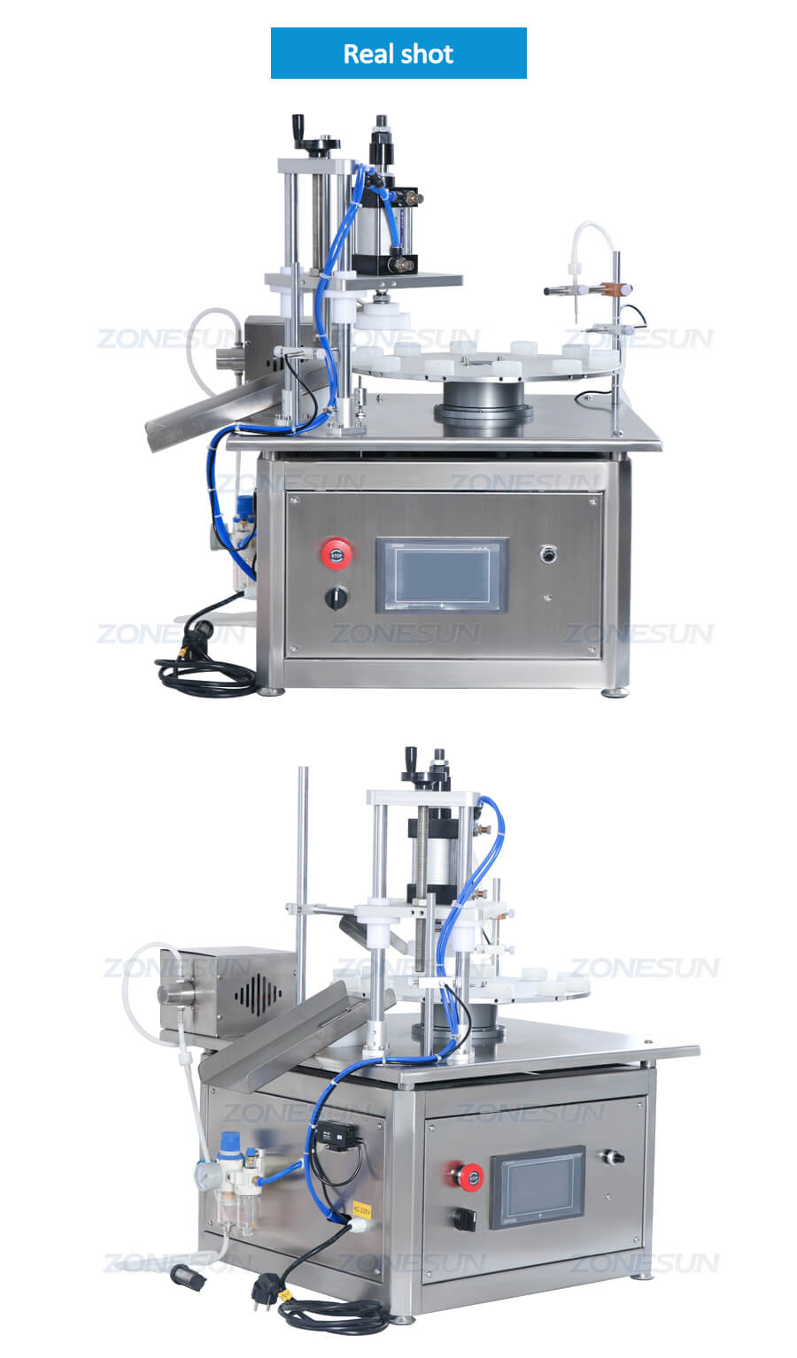 Real Shot of Small Filling Capping Machine