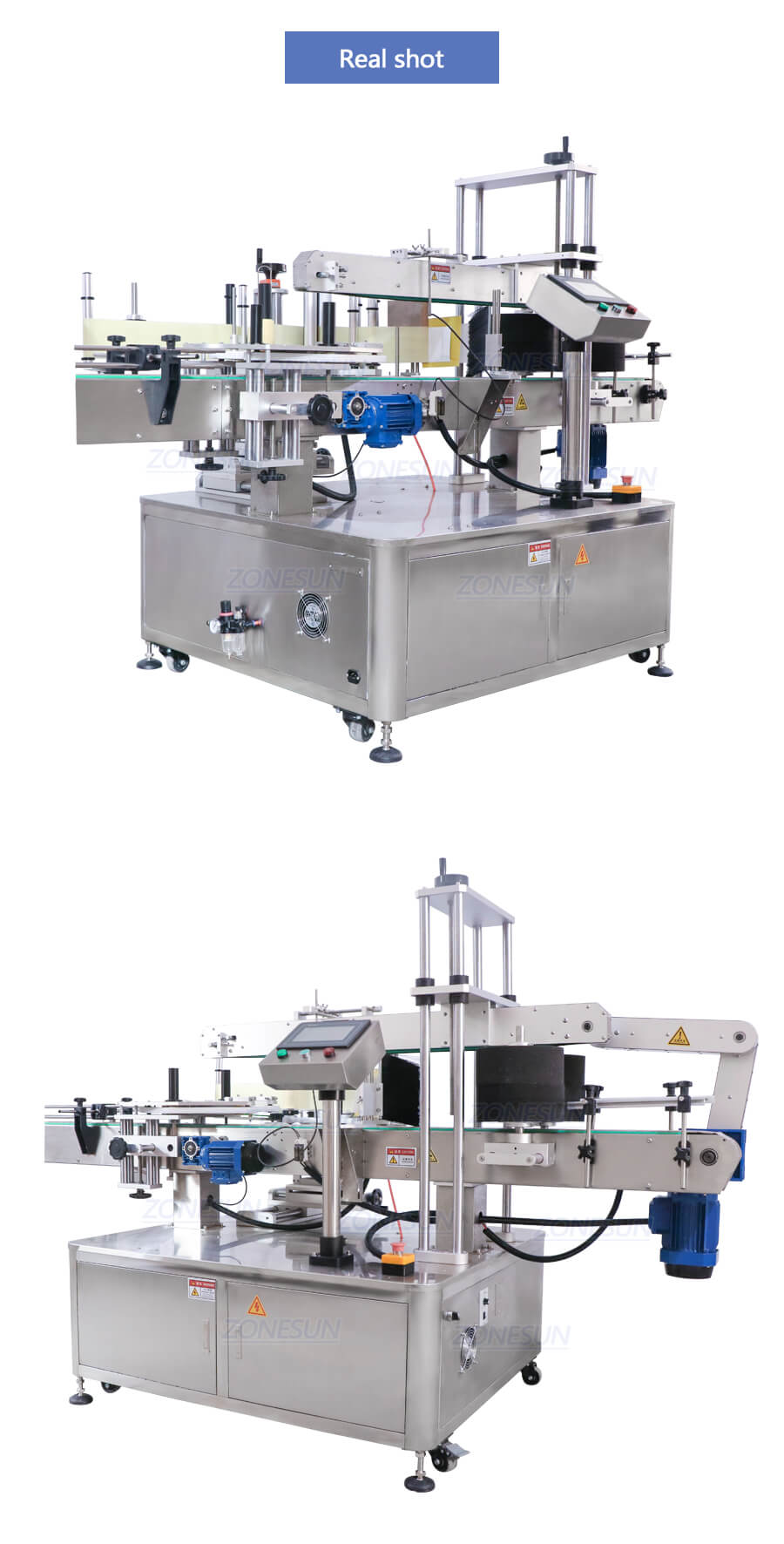 Real Shot of ZS-TB600T Three Sides Labeling Machine