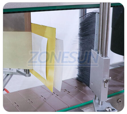 Labeling Structure of ZS-TB600T Three Sides Labeling Machine